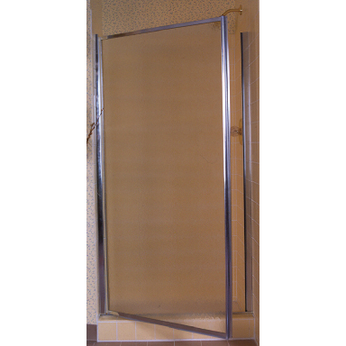 24i SILVER PIVOT SHOWER DOOR