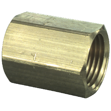 **BRASS COUPLING 1/2 LF
