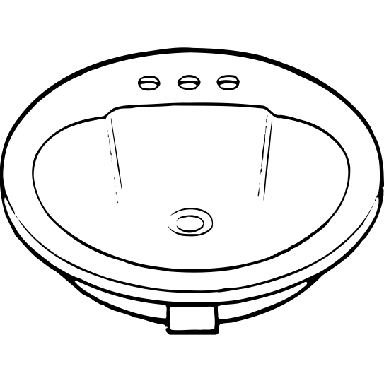 STERLING WHITE OVAL LAV SINK