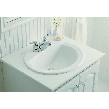 **SANIBEL OVAL LAV WHITE 4i CTRS
