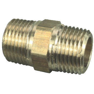 **BRASS HEX NIPPLE 1/4 LF