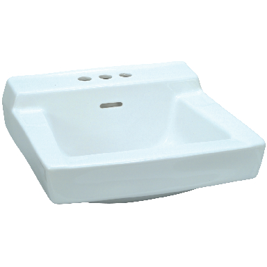 **WALL HUNG LAV 19X17 WHT