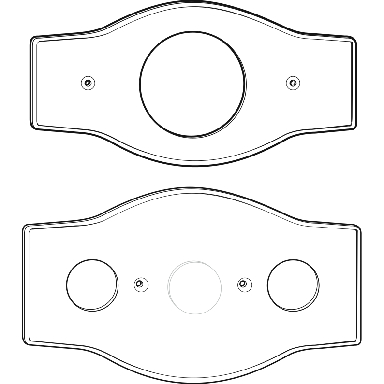 *1-HOLE TUB/SHWR COVER PLATE