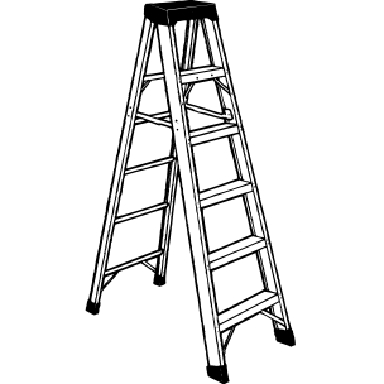 1O FT FIBERGLASS STEP LADDER 300
