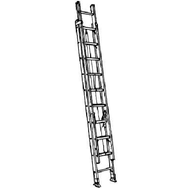 24FT FIBERGALL EXTENSION LADDER
