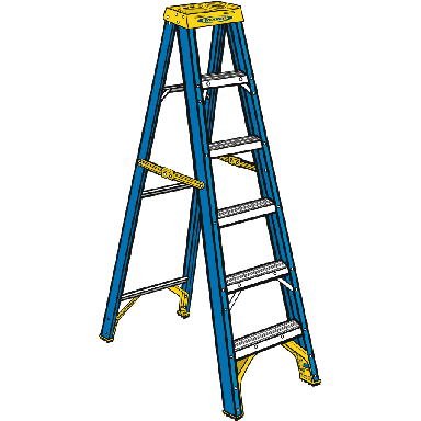8FT FIBERGLASS STEPLADDER 250LB