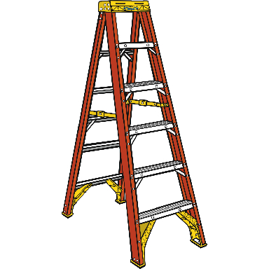 10 FT FIBERGLASS STEPLADDER 300L
