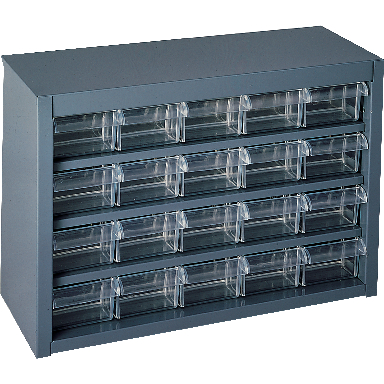 GREY UTILITY CABINET 20 DRAWER