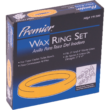 *WAX RING SET W/BOLTS