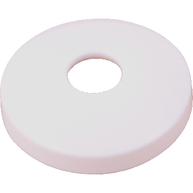 *ESCUTCHEON WHITE 1/2 CTS