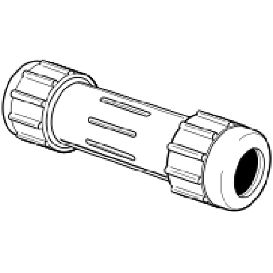 *PVC COMPRESS COUPLING 1-1/2