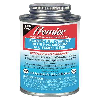 PREMIER CEMENT PVC ALL TEMPERATURE ONE STEP BLUE PINT