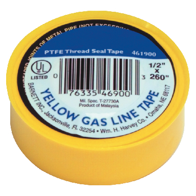 YELLOW GAS TAPE