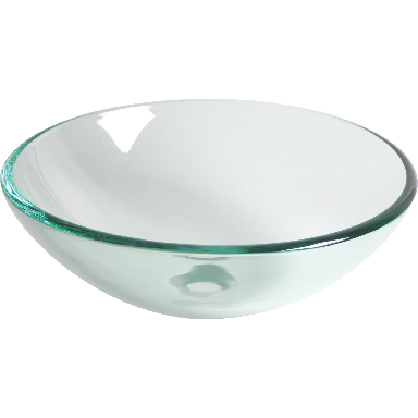 **CLEAR TEMPERED GLASS VESSEL