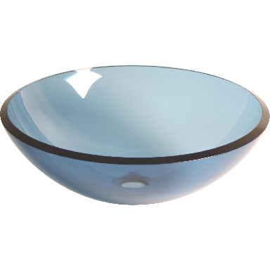 **BLUE TEMPERED GLASS VESSEL