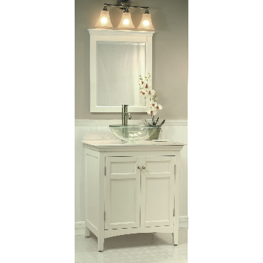**SANIBEL WHITE FINISH MIRROR