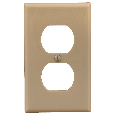**1 GANG RECEPTACLE PLATE ALMOND
