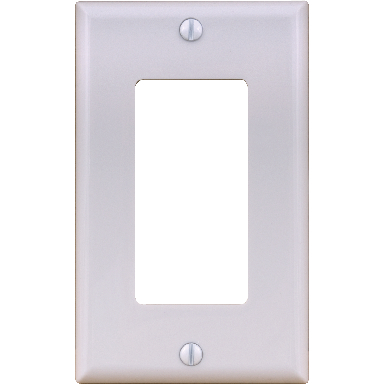 **1 GANG DECORATOR PLATE ALMOND