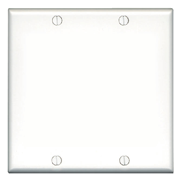 **2 GANG BLANK PLATE IVORY