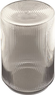 RIBBED LIP FITTER CYLINDER 5-3/4 IN., CLEAR PLASTIC