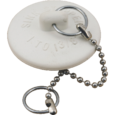 BASIN STOPPER W/CHAIN CARD