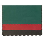 PLACEMAT 9-3/4X14 SCALLOPED EDGE HUNTERGREEN 1000