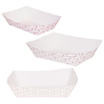 FOOD TRAY 300 3# RED WEAVE 500