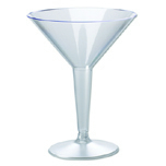 PLAS MARTINI 2PC 8OZ CLR 20/PK 12/CS