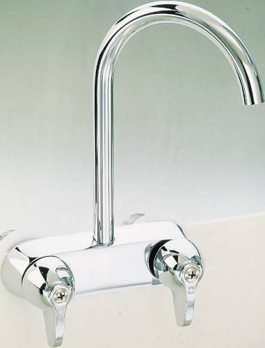PROPLUS GOOSENECK BATHCOCK 3-3/8 IN. CENTERS CHROME