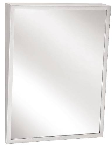 BRADLEY BX-FIXED TILT MIRROR 18 IN. X 30 IN. STAINLESS STEEL