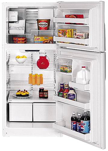 GE ENERGY STAR REFRIGERATOR TOP FREEZER 18.0 CU. FT. WHITE