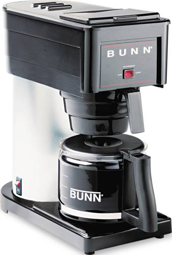BUNN-O-MATIC 10-CUP POUR-O-MATIC COFFEE BREWER, BLACK