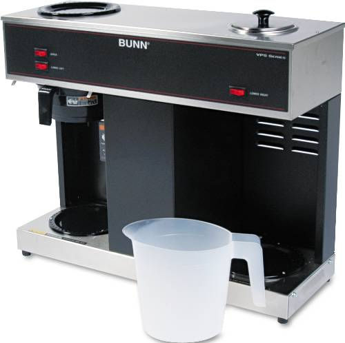 BUNN-O-MATIC POUR-O-MATIC THREE-BURNER POUR-OVER COFFEE BREWER,