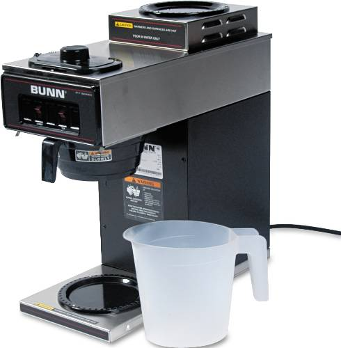 BUNN-O-MATIC 12-CUP TWO-STATION COMMERCIAL POUR-O-MATIC COFFEE B