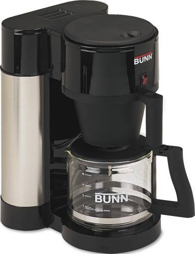 BUNN-O-MATIC 10-CUP PROFESSIONAL HOME COFFEE BREWER, STAINLESS S