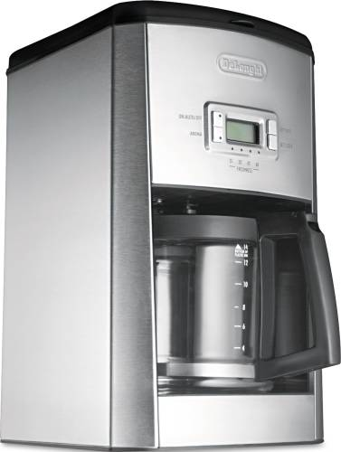 DELONGHI DC514T 14-CUP DRIP COFFEE MAKER, STAINLESS STEEL, BLACK
