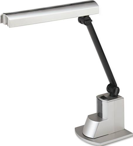 FLUORESCENT DESK LAMP, ELECTRONIC BALLAST, FOLDING SHADE, 15-1/2