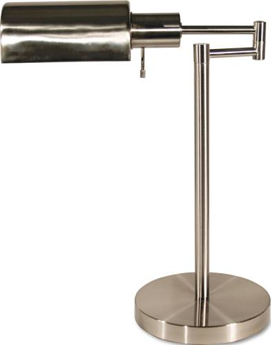 ADJUSTABLE FULL SPECTRUM TABLE LAMP, BRUSHED STEEL, 16-1/2 INCHE