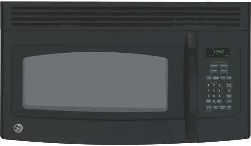 GE SPACEMAKER MICROWAVE OVEN OVER-THE-RANGE BLACK