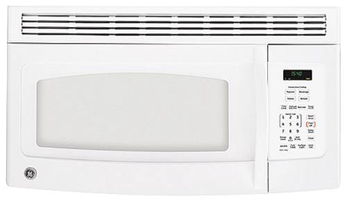GE SPACEMAKER MICROWAVE OVEN OVER-THE-RANGE WHITE