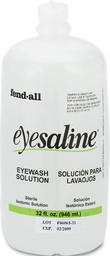 EYE WASH SALINE SOLUTION BOTTLE REFILL, 32-OZ
