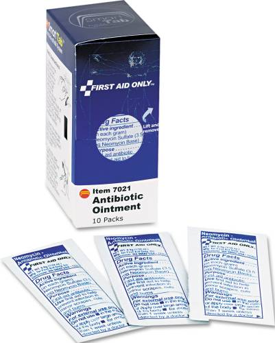 ANTIBIOTIC OINTMENT, 10 PACKETS/BOX