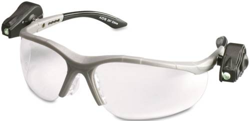 3M LIGHTVISION SAFETY GLASSES W/LED LIGHTS, CLEAR ANTIFOG LENS,