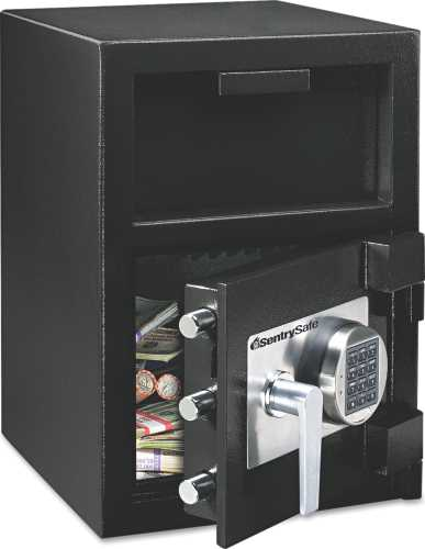 DEPOSITORY SAFE, .94 FT3, 14 IN. W X 15-3/5 IN. D X 20 IN. H, BL