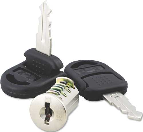 CORE REMOVABLE LOCK AND KEY SET, SILVER, TWO KEYS PER SET