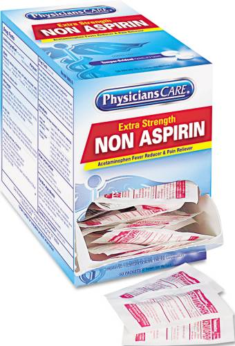 ACETAMINOPHEN PAIN RELIEVER REFILL, 50 TWO-PACKS/BOX