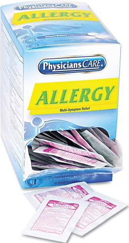 ALLERGY TABLETS, 50 TWO-PACKS/BOX