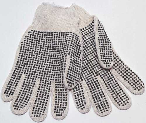 ECOM COTTON KNIT GLV,PVC DOTS WOMEN