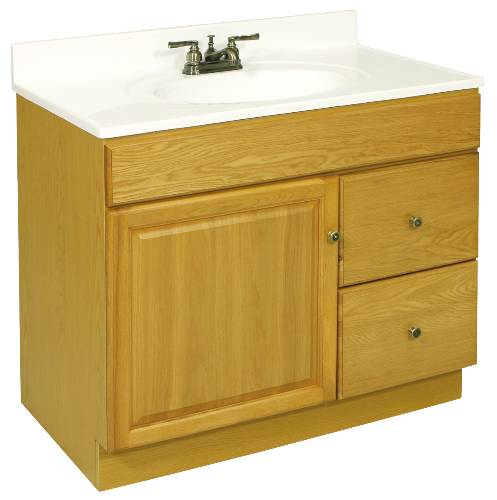 CLAREMONT VANITY 1 DOOR, 2 DRAWERS, 36 IN. W X 31-1/2 IN. H X 21