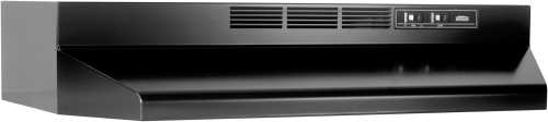 BROAN 41000 SERIES DUCTLESS RANGE HOOD 30 IN. BLACK
